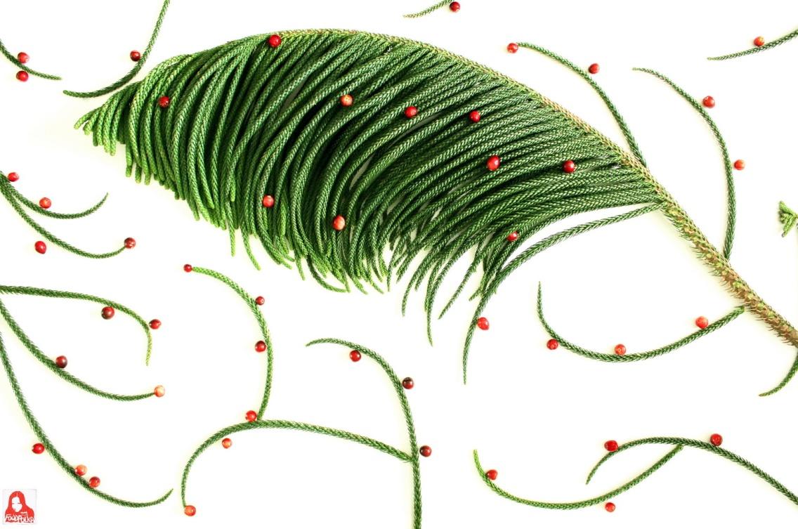 Żurawinowa choinka